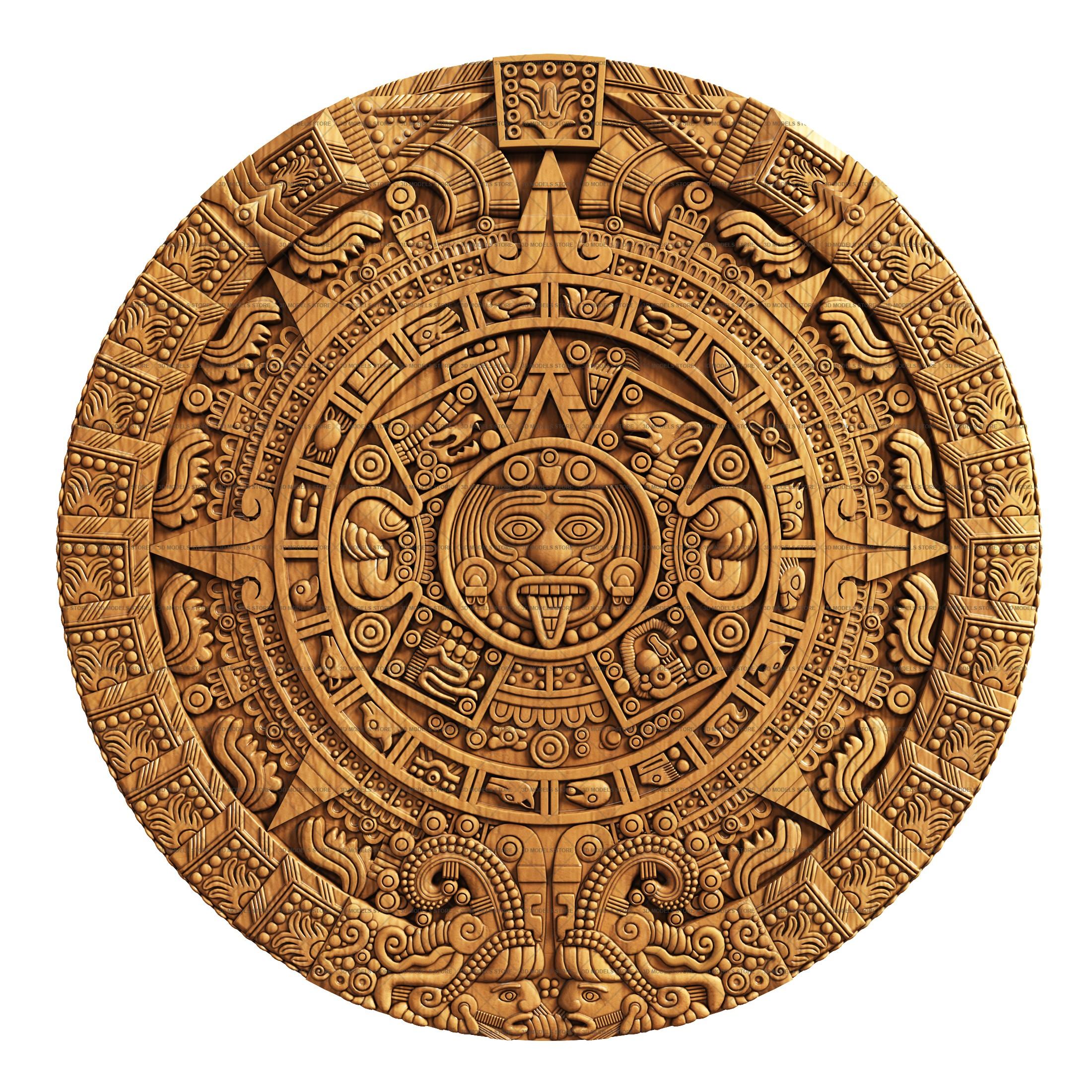 Календарь майя в картинке